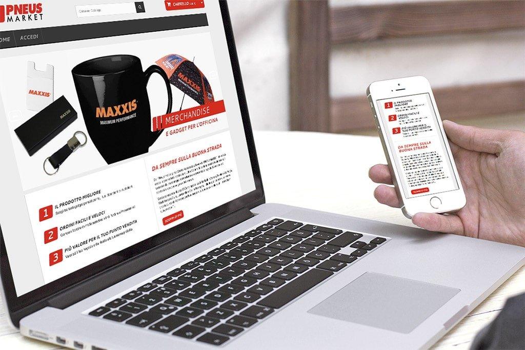 sito e-commerce pneus market