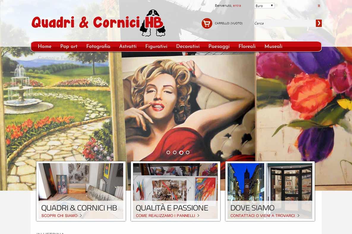 Sito eCommerce quadri e cornici home page