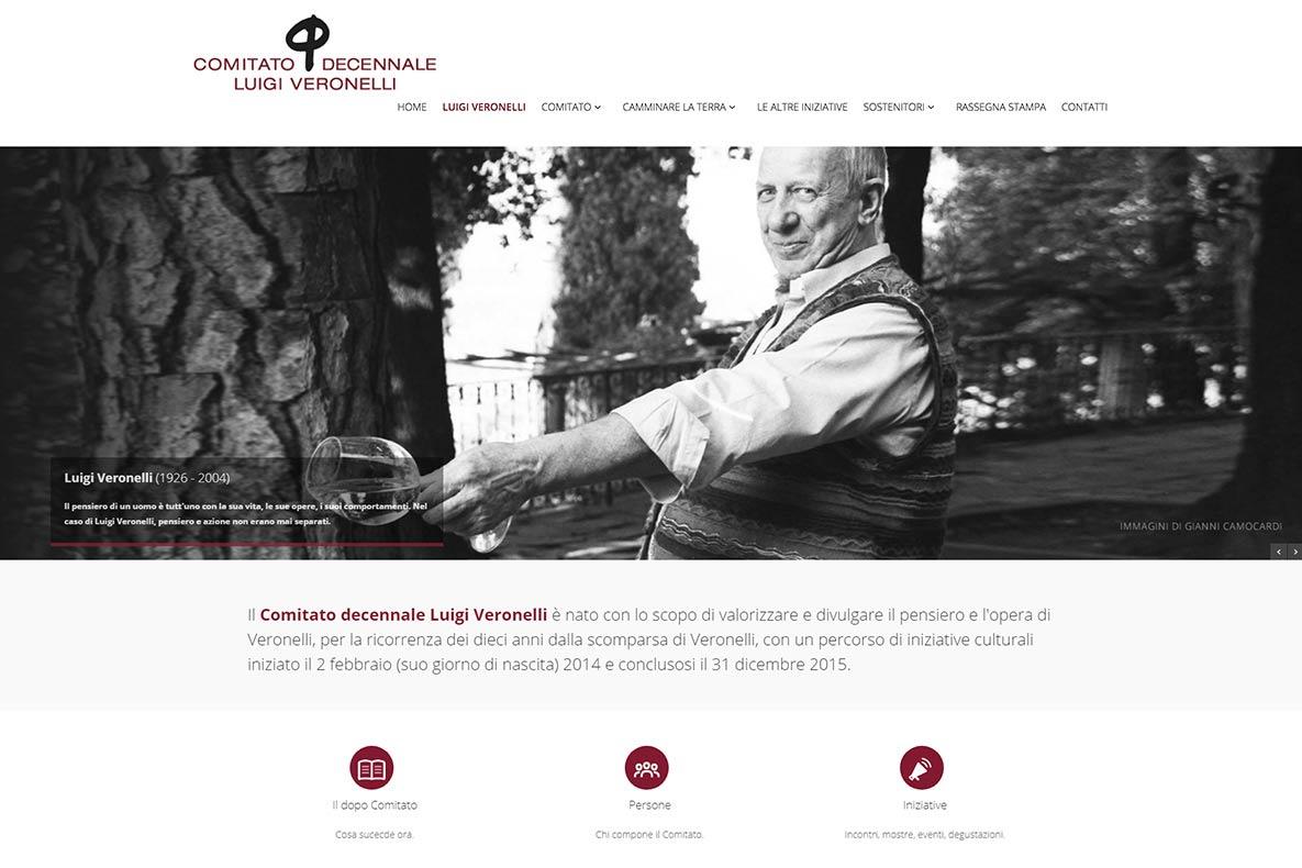 Sito web decennale veronelli home page