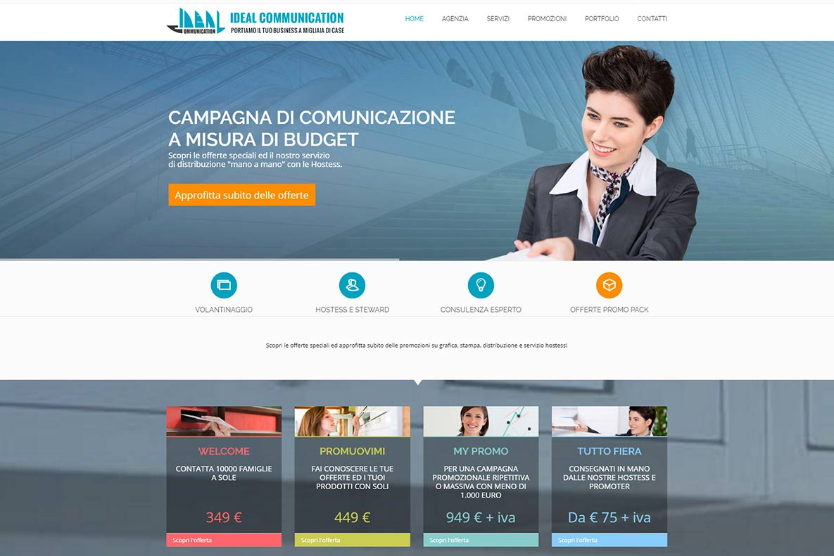 Sito web ideal communication home page