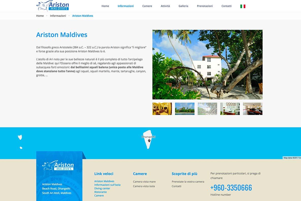 Sito web ariston maldives presentazione