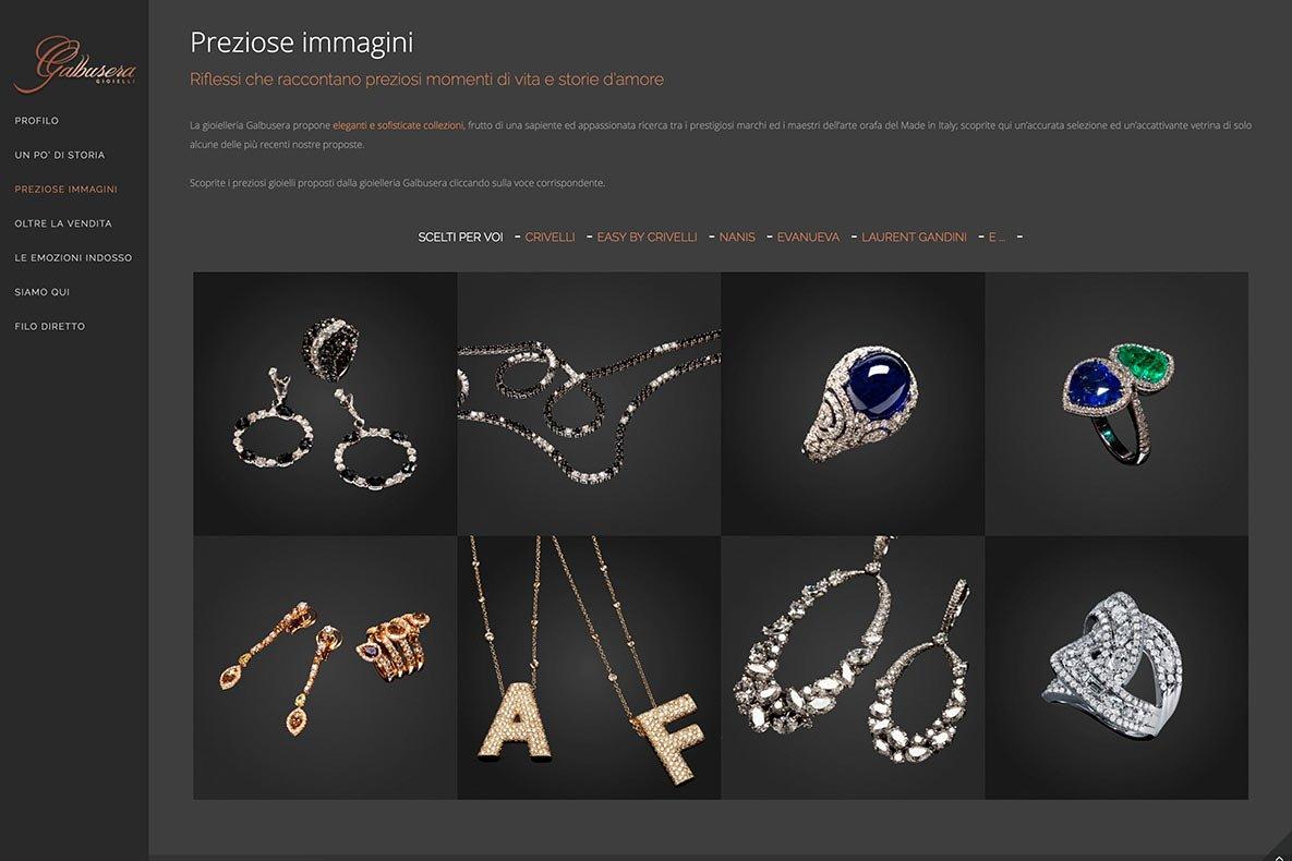 Sito web galbusera gioielli i prodotti