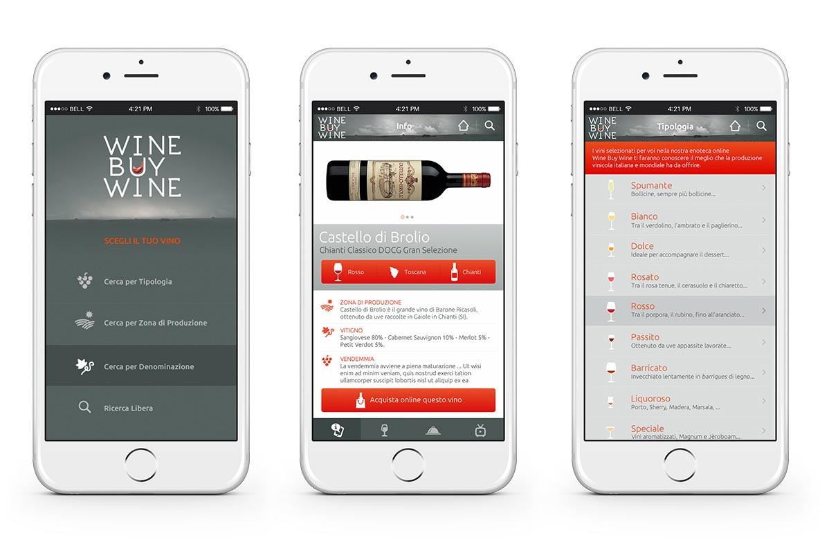 Sito eCommerce wine buy wine mobile