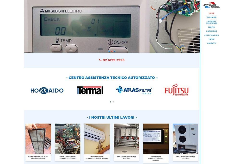 Sito web dfm clima home page