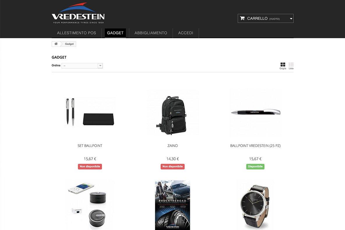 sito e-commerce catalogo csv italia categoria