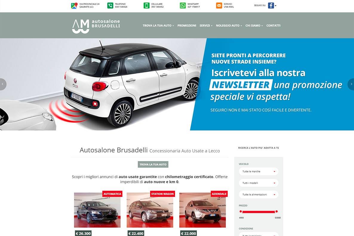 Sito web auto salone brusadelli home page