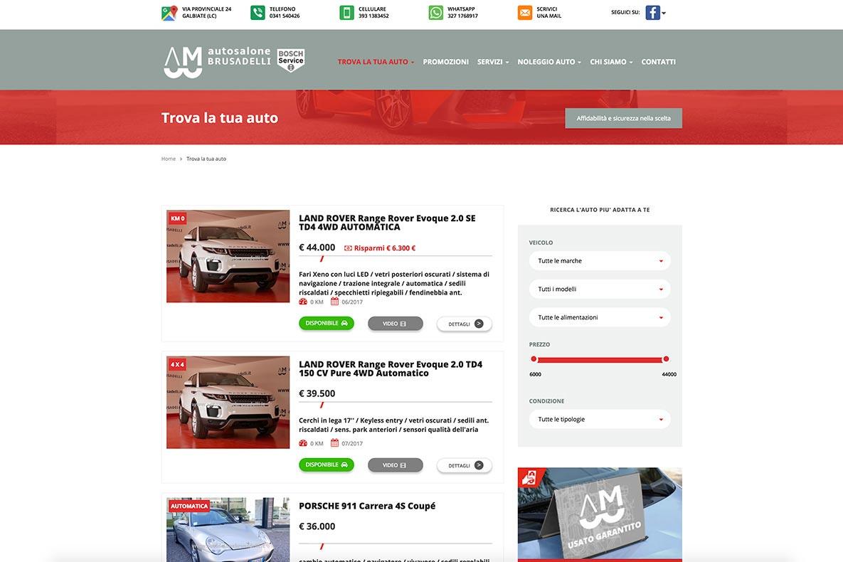 Sito web auto salone brusadelli le auto
