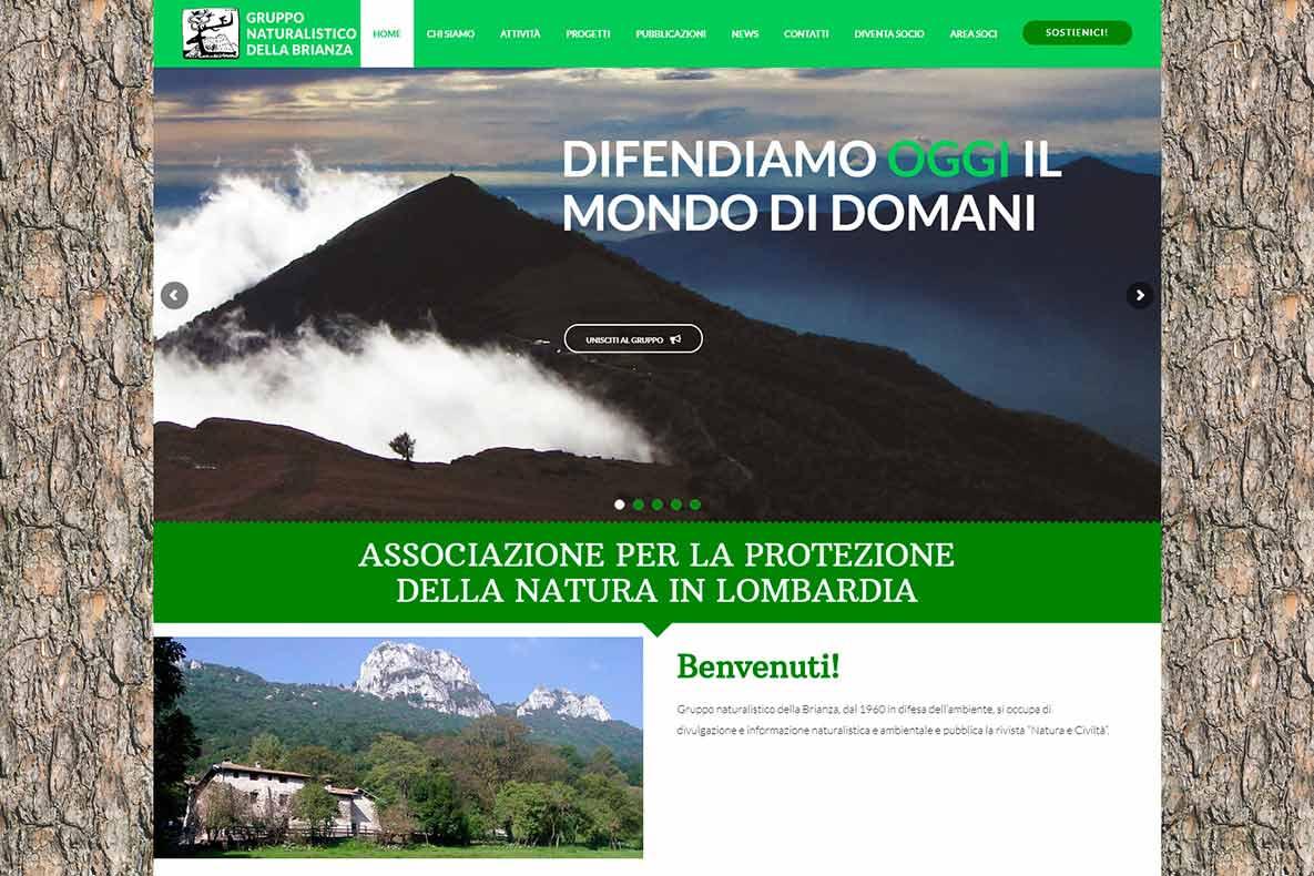 Sito web gruppo naturalistico brianza home page