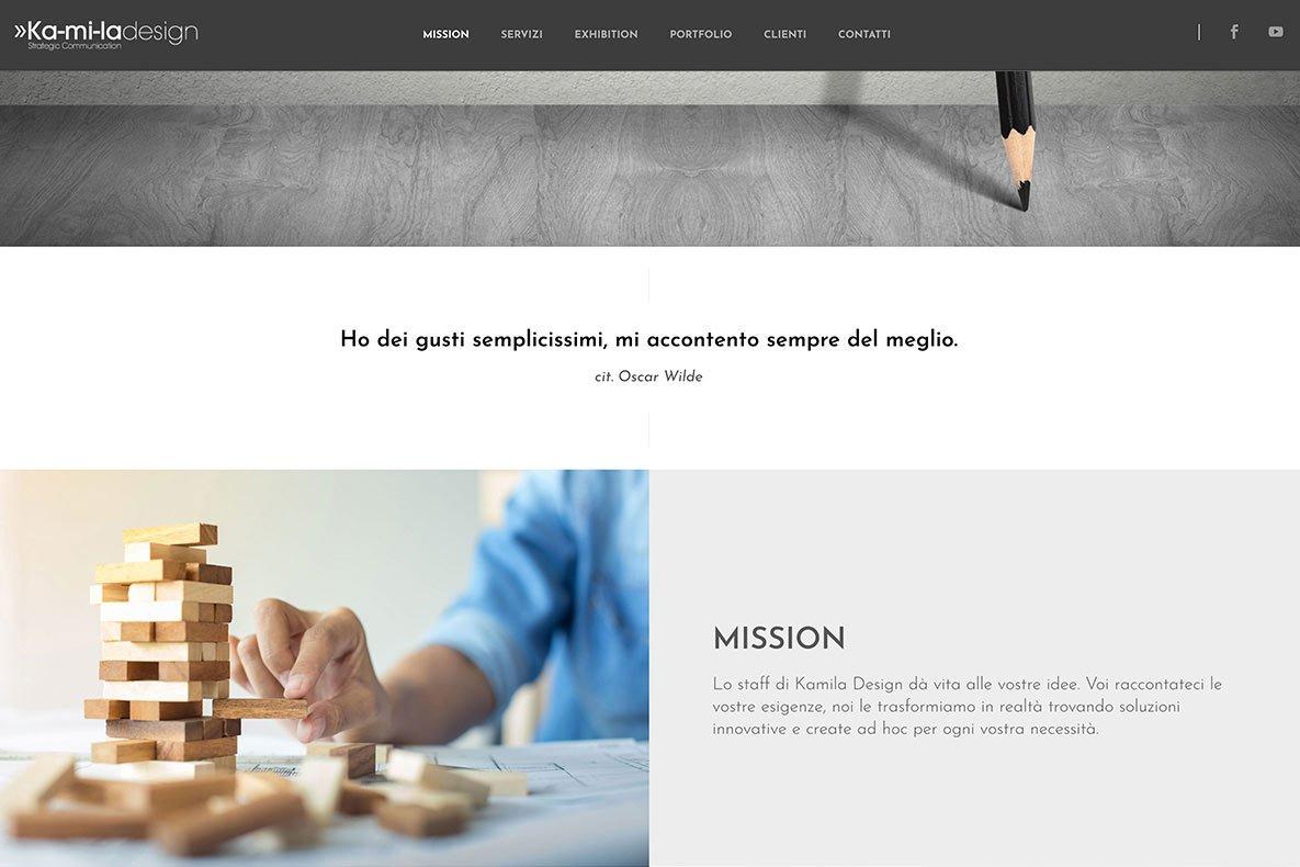Sito istituzionale kamila design home page