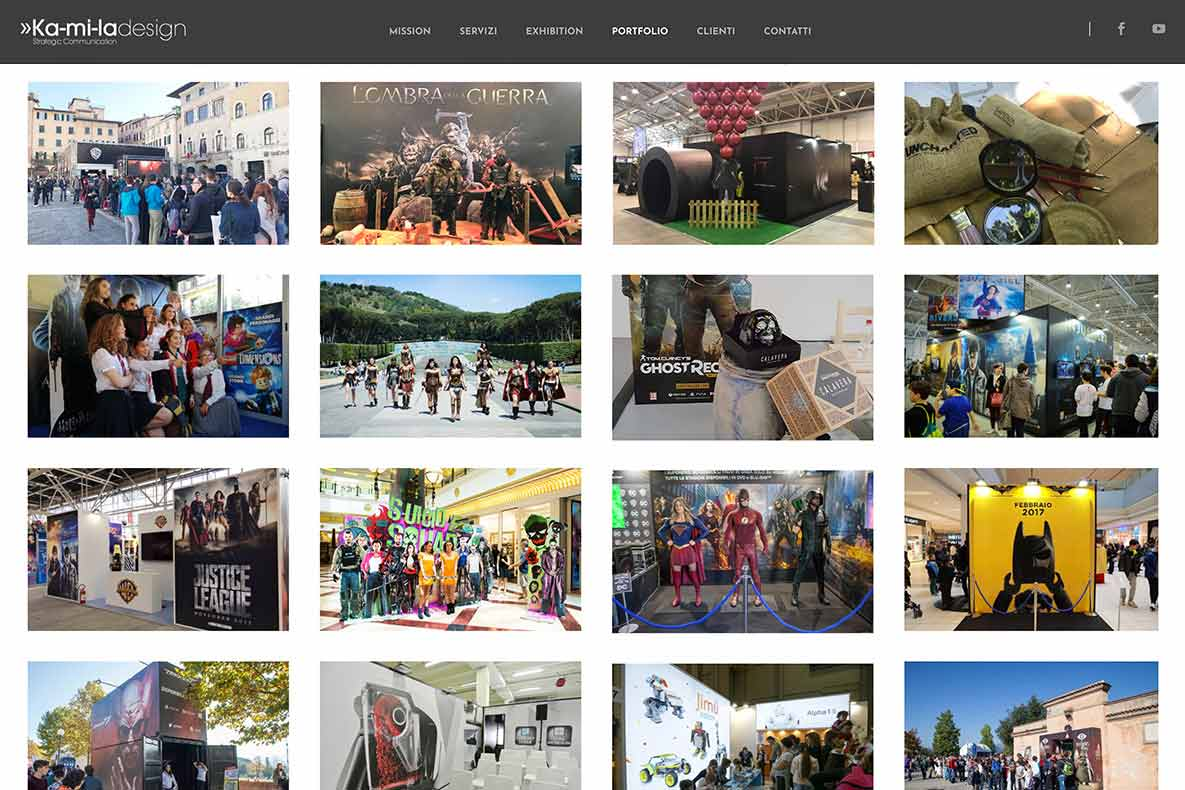 Sito istituzionale kamila design portfolio