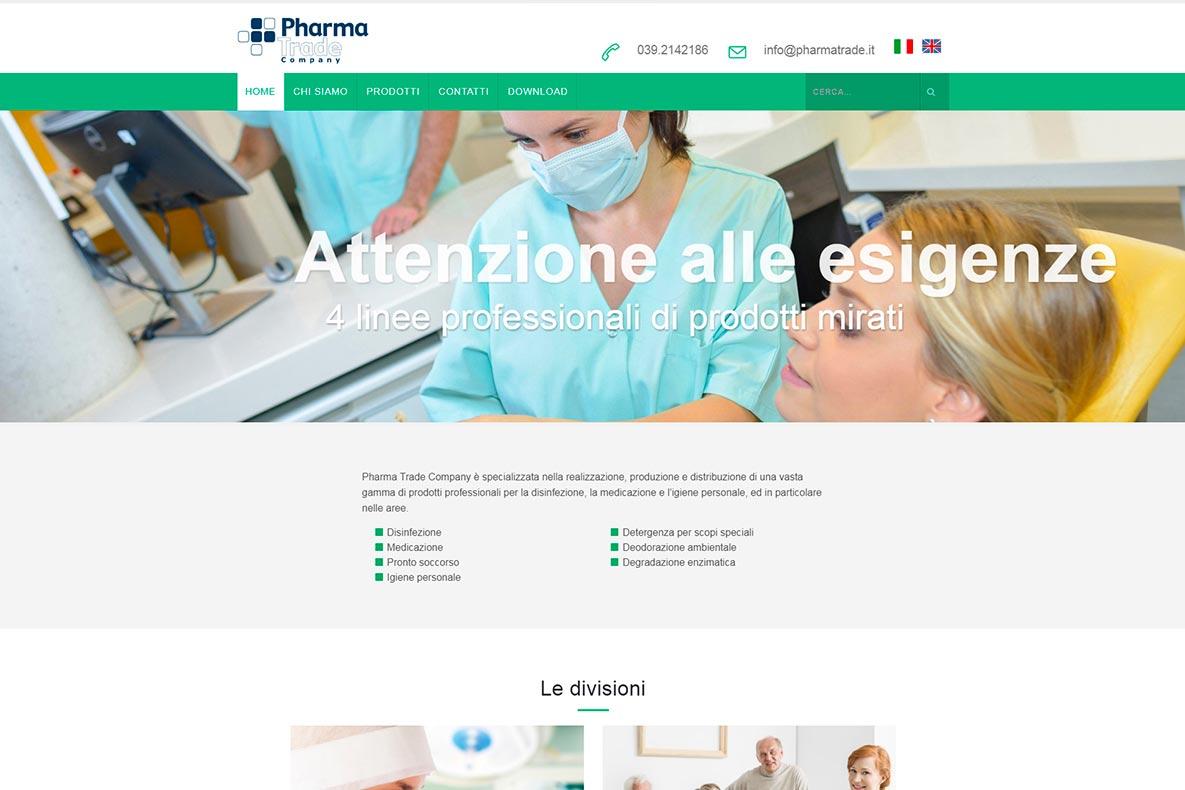 Sito istituzionale pharma trade home page
