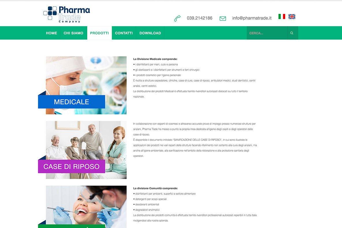 Sito istituzionale pharma trade pagina categoria