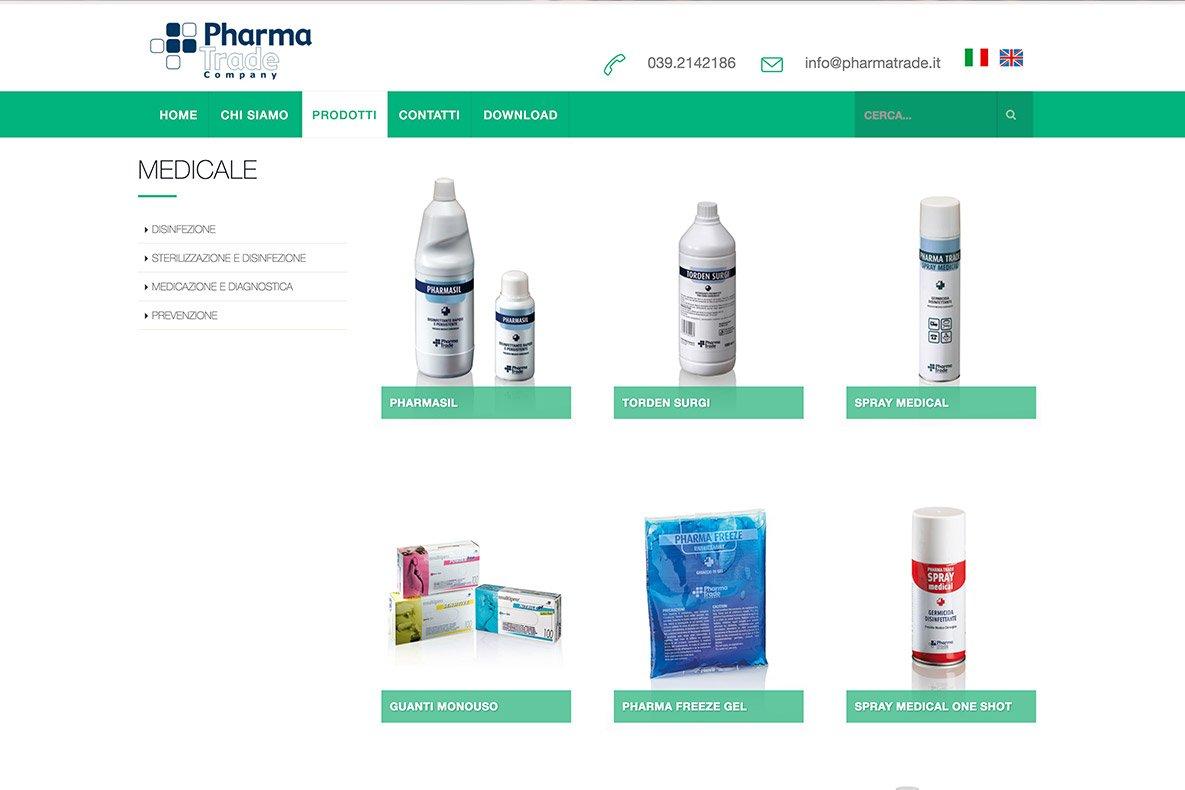 Sito istituzionale pharma trade i prodotti