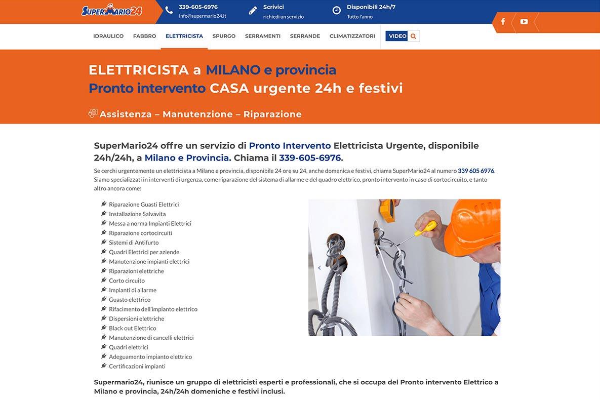 Sito istituzionale supermario24 servizio elettricista