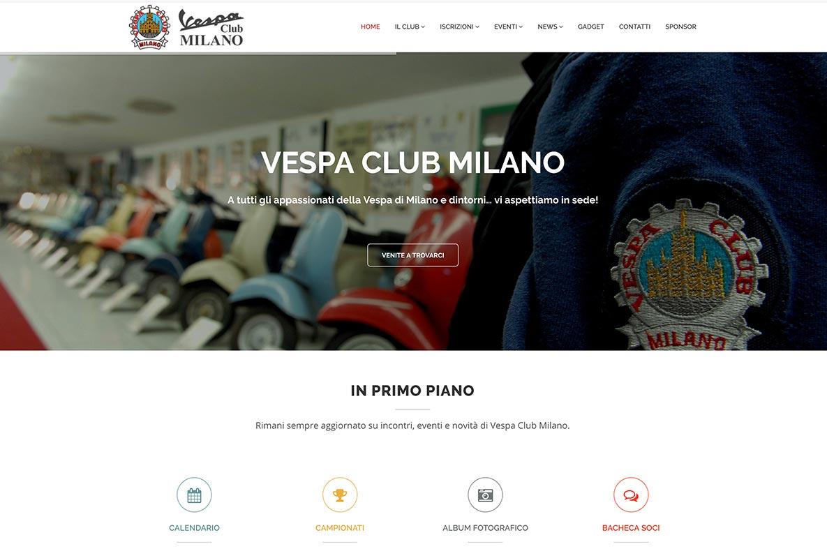 Sito web vespa club home page