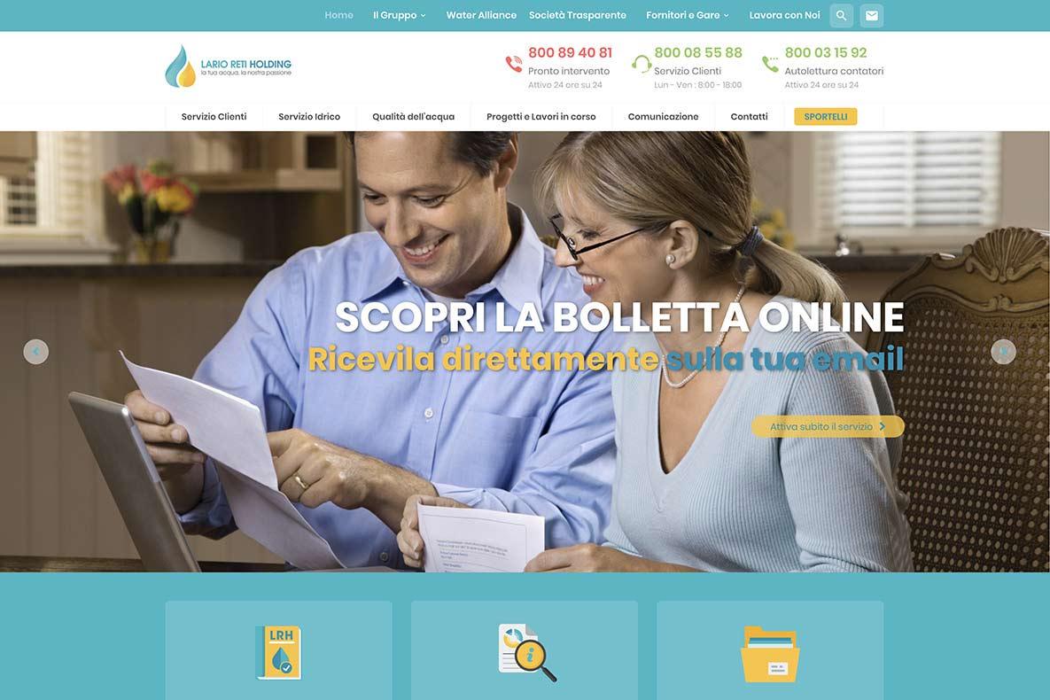 Sito web Lario Reti home page