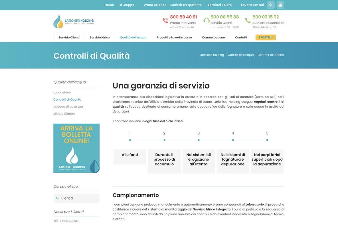 Sito web Lario Reti garanzia