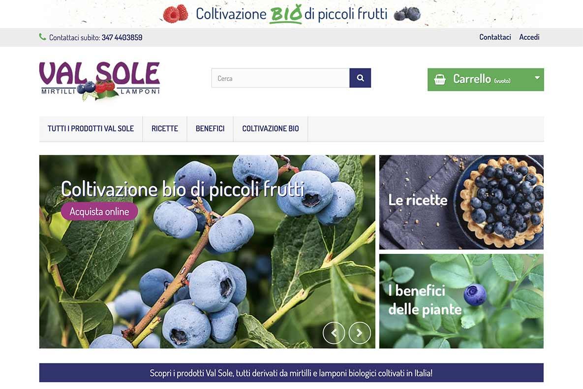 sito e-commerce marmellate biologiche home page