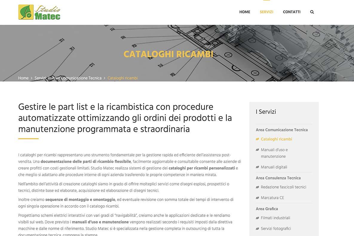 sito-istituzionale-studio-matec-pagina